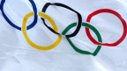 Olympische Fahne.