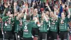 Spieler von Wacker Thun feiern