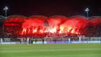 Beim Spiel zwischen GC und dem FC Sion wurden viele Pyros gezündet.