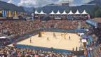 Blick ins Stadion des Beachvolley-Turniers