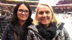 Renata Raezo (links) und Praxede Bertschy sind in der Eishalle zuhause.