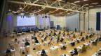 Im «Forum Fribourg» findet während der Corona-Pandemie auch das Kantonsparlament ein Obdach.