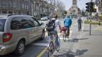 Velofahrer vor Pauluskirche