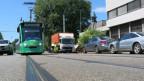 Zur Zeit müssen die Trams an der Baslerstrasse in Allschwil noch im Schneckentempo fahren.