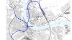 Stadtplan mit Linienführung
