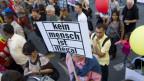 Sans-Papiers machten auch an Demonstrationen auf ihre Situation aufmerksam