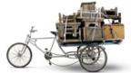 Tricycle mit Tischen, Beijing 2008.