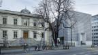 Die zwei Bauten des Bündner Kunstmuseums.