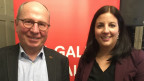 Fredy Fässler (bisher) und Laura Bucher (neu) wollen SP-Regierungssitze verteidigen.