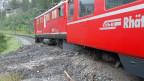 Zug der Rhätischen Bahn entgleist