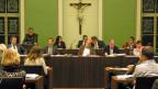 Das Zuger Stadtparlament während der PUK-Debatte.