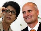 Die zwei abtretenden Regierungsmitglieder