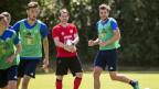 FCL-Trainer René Weiler beim Training auf der Allmend