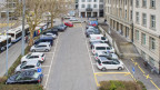 Blick auf den Postplatz in der Stadt Zug.