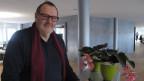 Romano Cuonz im Studio des Regionaljournals Zentralschweiz