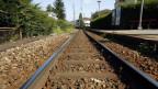 Geleise der Zentralbahn in Hergiswil.