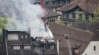 Grosser Schaden beim Brand des Hotels Schlüssel in Luzern