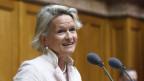 Andrea Gmür präsidiert neu die Mitte-Fraktion im Bundeshaus.