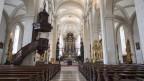 Die Hofkirche in Luzern: Jetzt noch leer, aber bald wieder für Gottesdienste geöffnet