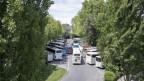 Der Carparkplatz auf dem Luzerner Inseli.