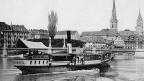 Die «Concordia» kollidierte am 29. August 1872 in Obermeilen ZH mit einem anderen Schiff.