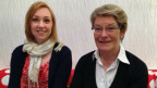 Kreditnehmerin Christine Scherbaum und Kreditgeberin Annabeth Studer.