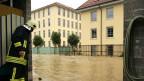 Überschwemmungen in Unterwindisch im August 2005