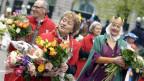 Bundespräsidentin Eveline Widmer Schlumpf war Ehrengast der Frauenzunft «Gesellschaft zu Fraumünster». Wegen ihrer Beliebtheit kamen die Frauen nur langsam voran.