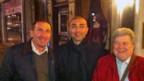 Roberto Di Matteo mit seinen Freunden Roy Pagno und Pino Ciaccio