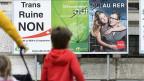 Die schnelle Bahnverbindung «Transrun» zwischen Neuchâtel und La Chaux-de-Fonds wurde am 23. September mit 50,29 Prozent Nein-Stimmen abgelehnt.