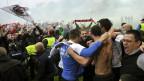 Mit dem Sieg gegen Chiasso am 25. Mai 2013 hat der FC Aarau seinen Aufstieg in die Super League besiegelt.