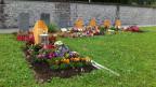 Gräber von Erwachsenen auf dem muslimischen Grabfeld in Luzern.