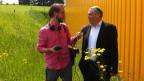 Tandem Suisse vor der Semeuse beim Interview mit Marc Bloch.