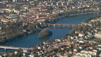 Die Fridolininsel im Rhein bei Stein/AG: bald schon soll sie zum grössten Teil Deutschland gehören