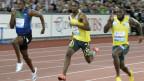 Usain Bolt (ganz links) auf der schnellen Bahn im Letzigrund