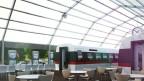 Das geplante Trenhotel - eine Herberge auf Schienen in Chiasso.