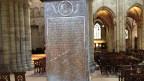 Die Grabtafel für den Humanisten Erasmus von Rotterdam im Basler Münster.