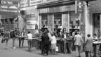 So war es einst: Blick auf das Luzerner Bahnhofbuffet von 1987.