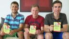 Drei der fünf Freiburger Jungunternehmer, die mit ihrem Kondom-Abo erfolgreich sind.