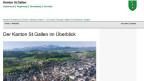 Die Website zeigt's: St.Gallen schreibt sich ohne Leerschlag.