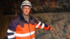 Paul Bossart, der Direktor des Mont-Terri-Projektes im Innern des Berges.
