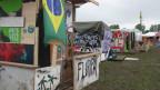 Favela für Festivalbesucher.