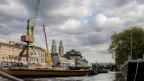 Einige Monate stand der Hafenkran am Ufer der Limmat.