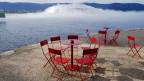 Auch die nächste Landesausstellung dürfte am Wasser stattfinden, genauer am Bodensee. Bild der Wolke in Yverdon-les-Bains, anlässlich der Expo02.