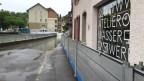 Hochwasser in Bern nach starken Regenfällen.