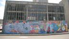 Street-Art an einer Fassade in Basel.