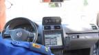 Autonummer-Scaner im Polizeiauto