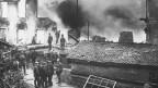 Bild der Brandkatastrophe in Mümliswil 1915