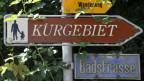 Wegweiser zum Kurpark Zurzach