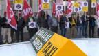 Taxi-Protest in Basel gegen Uber